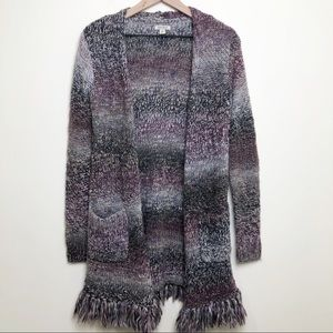 Lucky Brand Chunky Cardigan Long Line Open Front